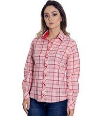 camisa pimenta rosada xadrez beatriz