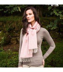 ladies' herringbone lambswool scarf pink one size