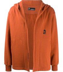 styland open-front organic cotton hoodie - orange