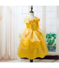 cute belle princess dress girl summer costume party beauty and the beast cloth