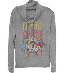 fifth sun dc justice league femme power cowl neck juniors pullover fleece