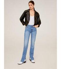 rechte jeans met split