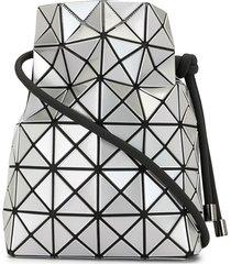 bao bao issey miyake geometric patterned drawstring bag - silver