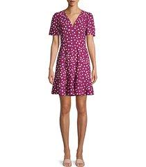 mallow dot crepe a-line dress