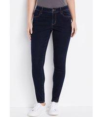 maurices womens jeans vintage mid rise jegging blue denim