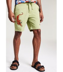 sun + stone men's devoe tiger print pull-on shorts, created for macy's