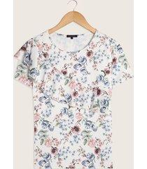 camiseta con bolero diagonal estampada-l