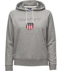 gant shield sweat hoodie hoodie trui grijs gant