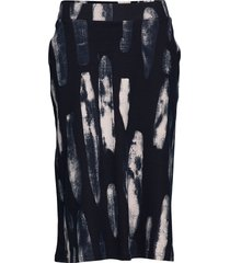 ladies skirt, maali knälång kjol blå nanso