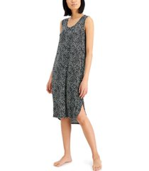 alfani side-slit sleeveless nightgown, created for macy's