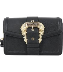 versace jeans couture grana pu buckle hobo bag