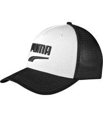 gorra blanca puma classics trucker