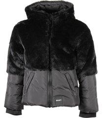 fur hooded down jacket