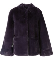 emporio armani wide sleeve jacket - purple