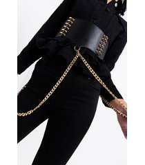 akira love lockdown chain strap waist belt
