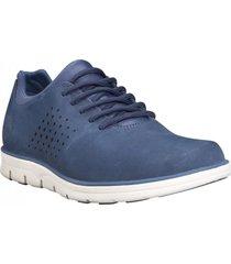 zapatos bradstreet perforated  oxford azul timberland