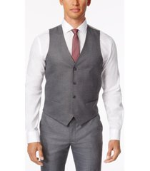 alfani men's stretch performance solid slim-fit vest, created for macy's