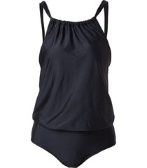 lygia & nanny eden loose top swimsuit - black