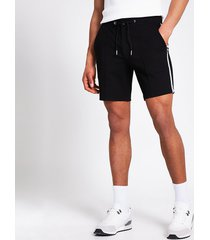 river island mens black tape side sid skinny shorts
