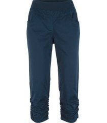 pantaloni capri con arricciature (blu) - bpc bonprix collection