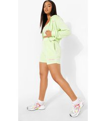 velours sweat shorts, lime