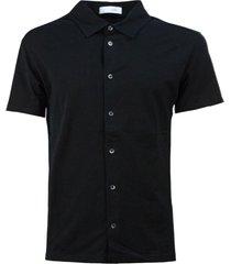 cruciani black cotton polo shirt