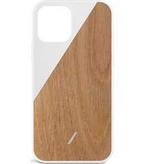 clic wooden iphone 12 pro max case - white