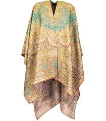 etro paisley pattern jacquard cape