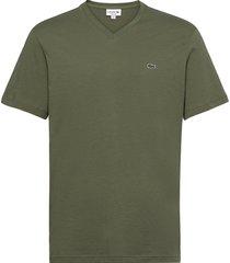 men s tee-shirt t-shirts short-sleeved grön lacoste