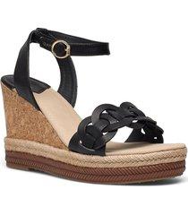 ivalice wedge sandal sandalette med klack espadrilles svart gant