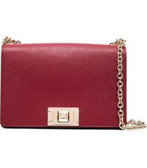 furla square-shape crossbody bag - red