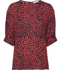 olivia blouse blouses short-sleeved röd nué notes