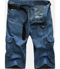 lavoro all'aperto allentato sottile traspirante corto carico jeans per uomo
