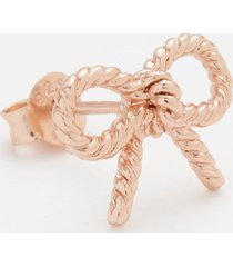olivia burton women's vintage bow earrings - rose gold