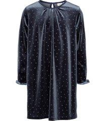jurk gestippelde velours