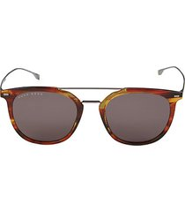 53mm faux tortoiseshell square sunglasses