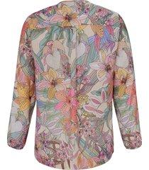 blouse met ronde hals en lange mouwen van emilia lay multicolour