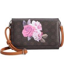 giani bernini signature rose crossbody wallet, created for macy's