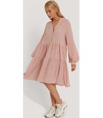 na-kd boho structure a-line dress - pink