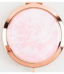 pink tie-dye compact mirror