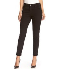 women's karen kane 'zuma' stretch crop skinny jeans, size 16 - black