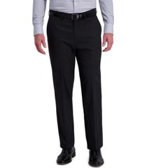 j.m. haggar men's classic-fit 4-way stretch diamond-weave performance dress pants
