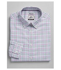 1905 collection extreme slim fit button-down collar multi check dress shirt with brrr°® comfort, by jos. a. bank