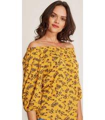 camiseta campesina floral amarillo 6