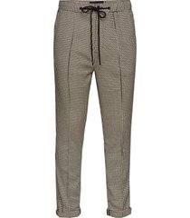 houndstooth pant with pintuck casual byxor vardsgsbyxor beige scotch & soda