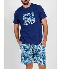 pyjama's / nachthemden admas for men planten lois admas korte t-shirt pyjama