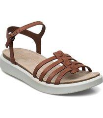 corksphere sandal shoes summer shoes flat sandals brun ecco