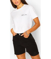 self care slogan t-shirt, white