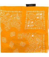 gucci bandana printed neckscarf - orange