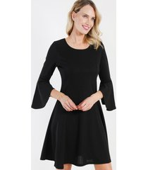 vestido corto evase negro night concept